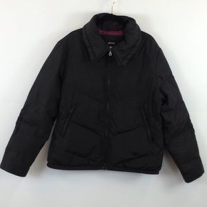 DKNY black feather filled coat size L